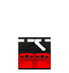 Adidas red shoes Roblox pants