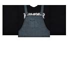 overall black Roblox shirt