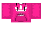 Pink Adidas hoodie Roblox shirt