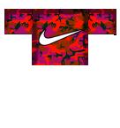 Red Camo Nike Roblox shirt