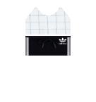 white top and adidas shorts Roblox pants