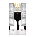 white hoodie with adidas Roblox pants