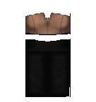 Brown top and black skirt Roblox pants