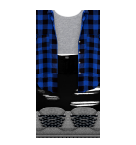 Flannel with Black pants Roblox pants