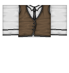 Brown Vest with White shirt Roblox shirt