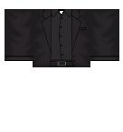 black on black suit Roblox shirt