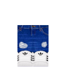 Jeans and Adidas Roblox pants