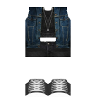 Jean top and Shorts Roblox pants