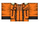 Orange Anime Jacket Roblox shirt