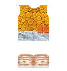 Orange top and Jean shorts Roblox pants