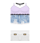 Lavender top with choker Roblox pants