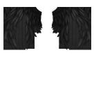 Black Angel Feathers Roblox shirt