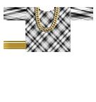 plaid shirt with gold chain Roblox shirt