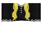 Black Shirt and Blonde Hair Roblox shirt