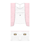 Pink and white Roblox pants