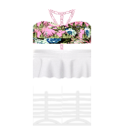 Flower top and White dress Roblox pants