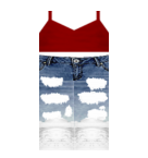 red top and jeans Roblox pants