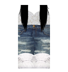 white top and Jeans Roblox pants