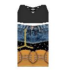 Black top and jean shorts Roblox pants