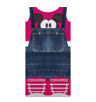 mickey overalls pink Roblox pants